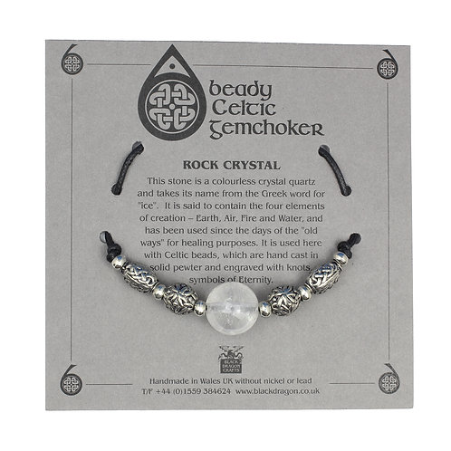 Celtic Rock Crystal Beady Gem Choker Necklace