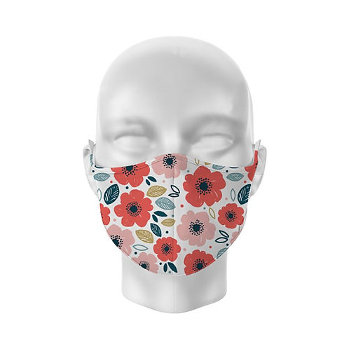 Poppies Reusable Adult Face Covering
