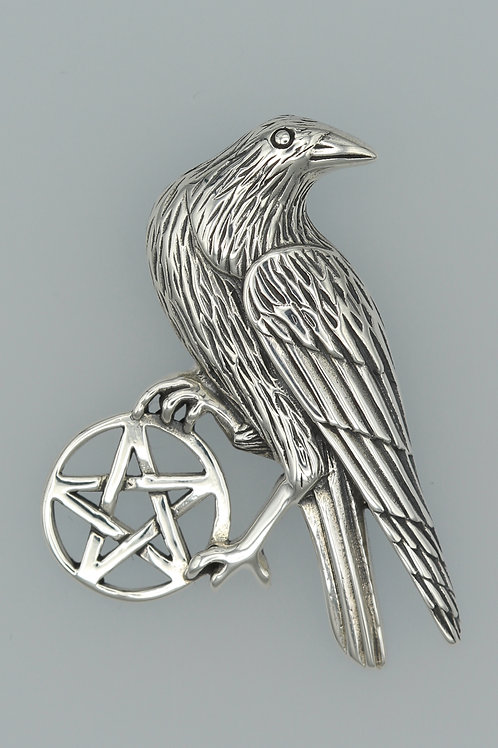 Crow and Pentacle Pendant