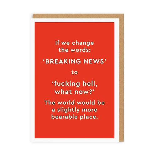 """Breaking News"" Card"