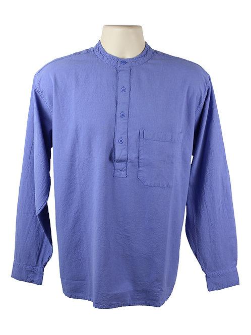 Violet Collarless Grandad Shirt