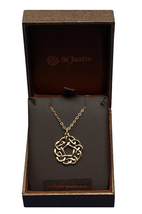 Bronze Pentagon Celtic Knot Pendant
