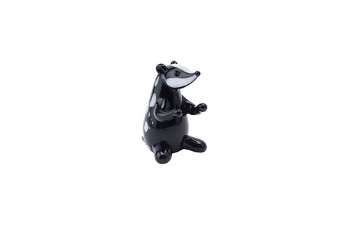 Fox and Fern Glass Badger