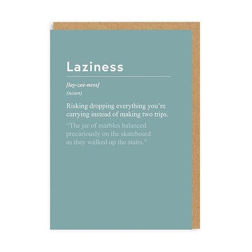 """Laziness"" Card"