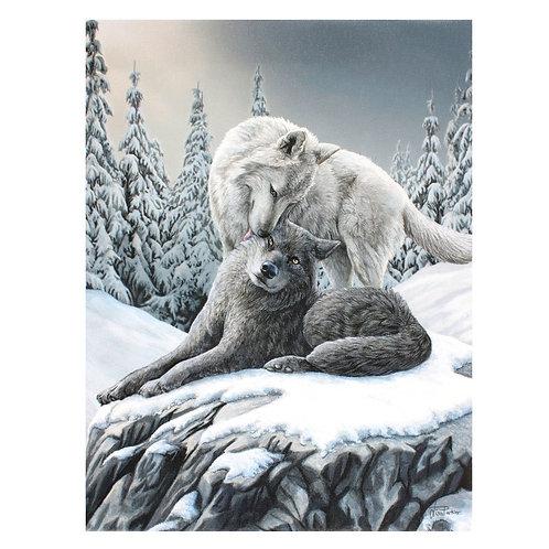 Snow Kisses Canvas Plaque
