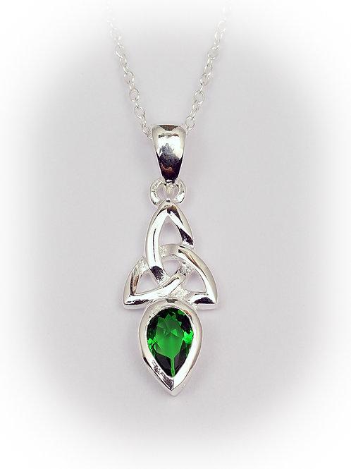 May - Emerald Celtic Pendant