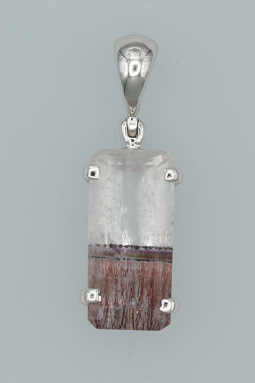 Bi-Coloured Phantom Quartz Pendant