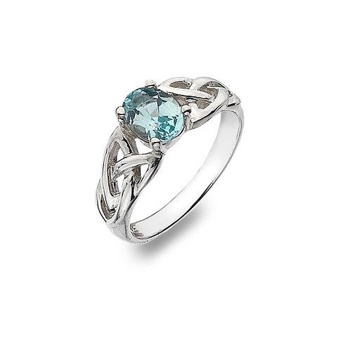 Blue Topaz Celtic Ring