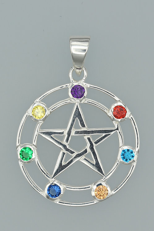 Chakra Pentacle Pendant