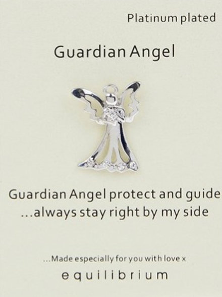 """""""Protect and Guide"""" Guardian Angel Pin"""