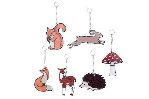 Fox and Fern Suncatchers