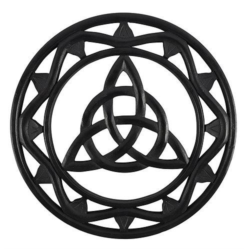 Black Wooden Triquetra Celtic Hanging