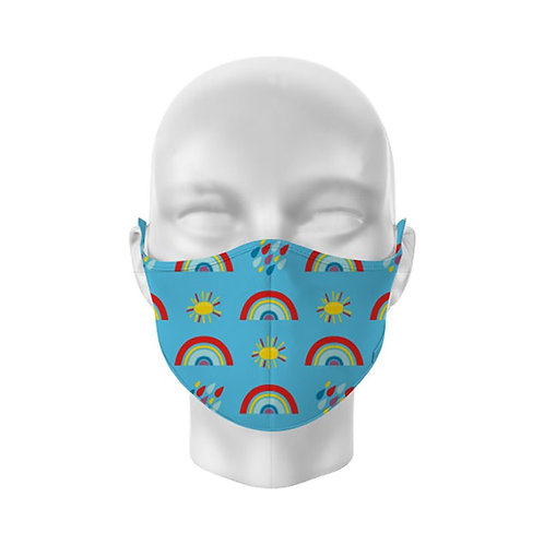Rainbows Reusable Childs Face Covering