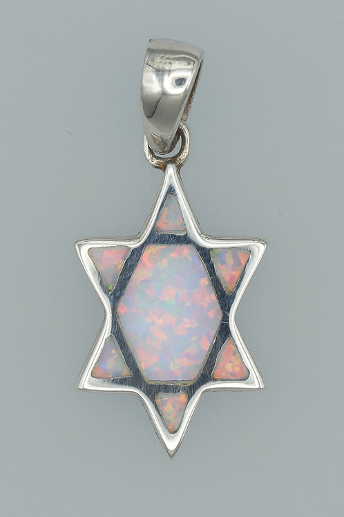 Gilson Opal Star of David Pendant