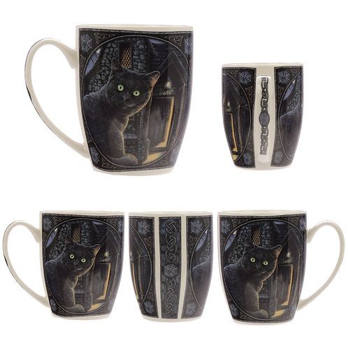 What lies within Cat Mug by Lisa Parker