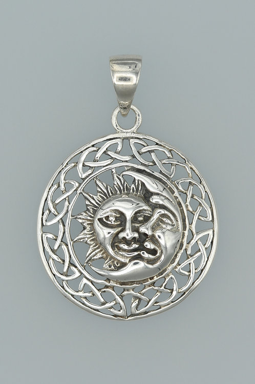 Celtic Sun and Moon Pendant