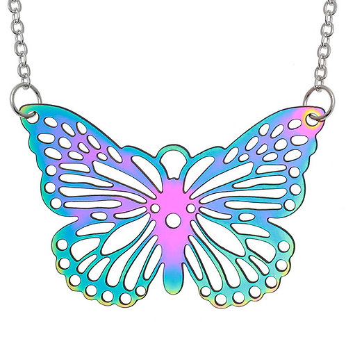 Iridescent Butterfly Necklace