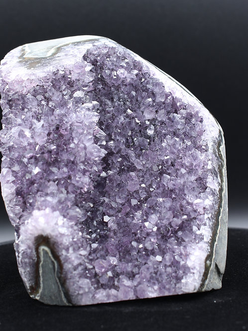 Amethyst with Polished Edge
