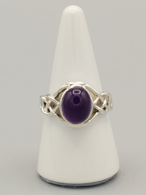 Amethyst Celtic Ring