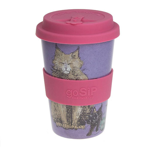 Feline Fun Rice Husk Cup