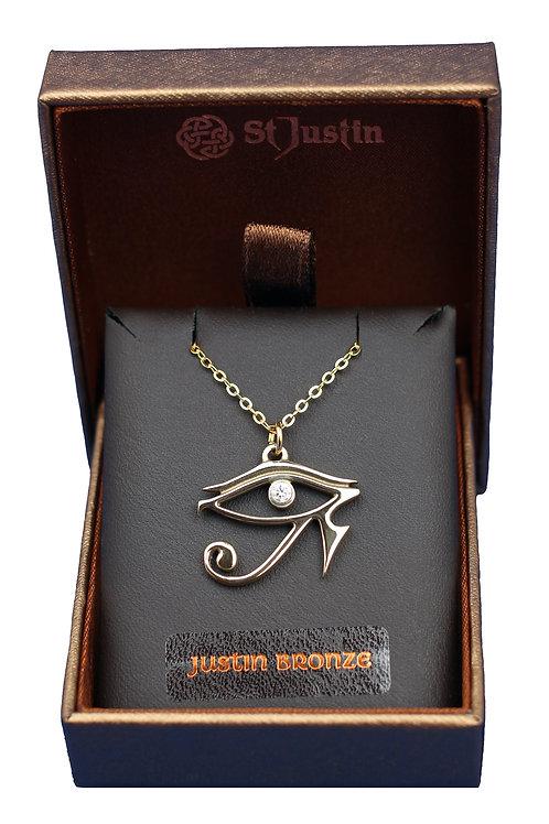 Bronze Eye of Horus Pendant