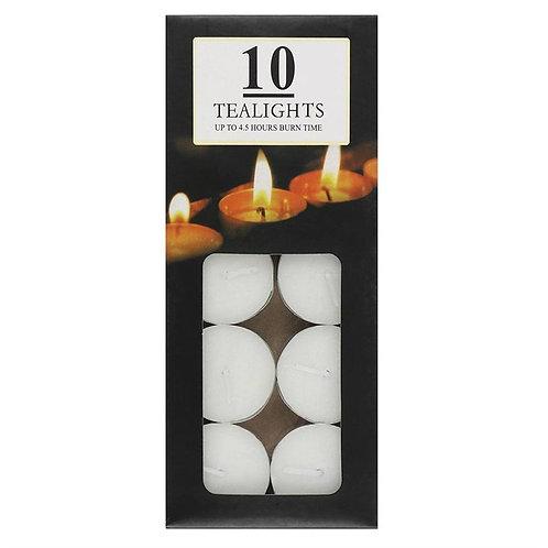 Pack of Ten Tealight Candles