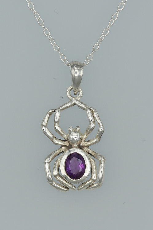 Amethyst Spider Pendant