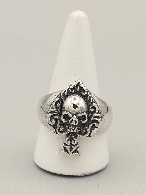 Ace of Spades Skull Ring