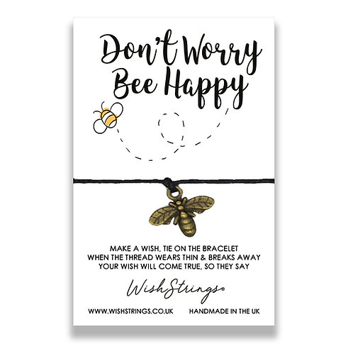 Bee Happy WishString