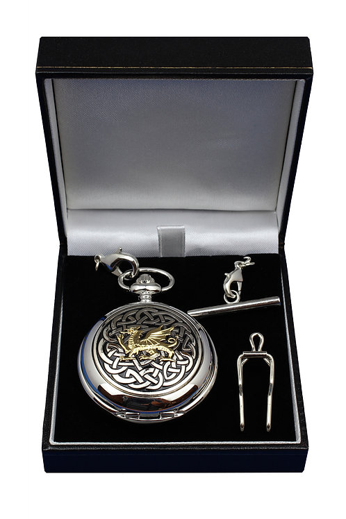 Welsh Dragon Celtic Knot Pocket Watch