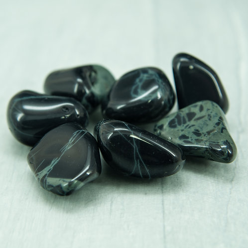Spiderweb Obsidian Tumblestone