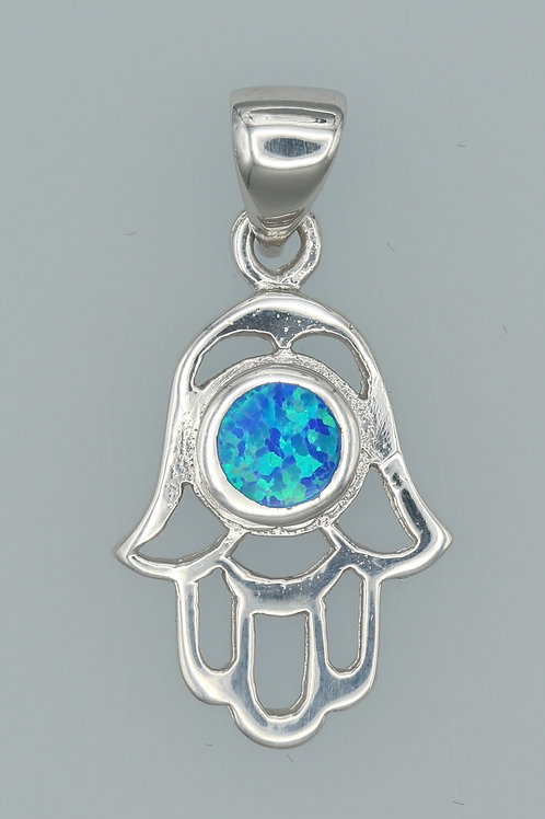 Gilson Opal Hamsa Hand Pendant