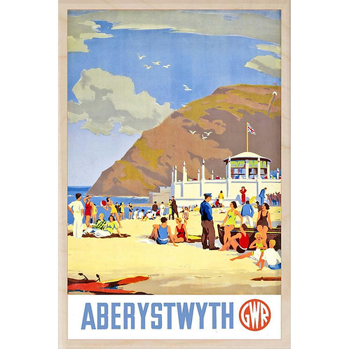 Aberystwyth Wooden Postcard