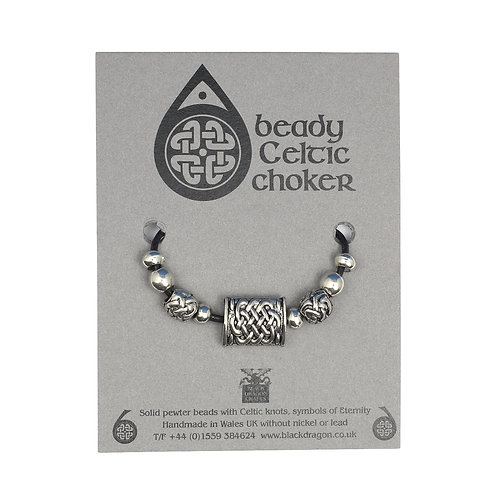 Celtic Pillow Beady Choker Necklace