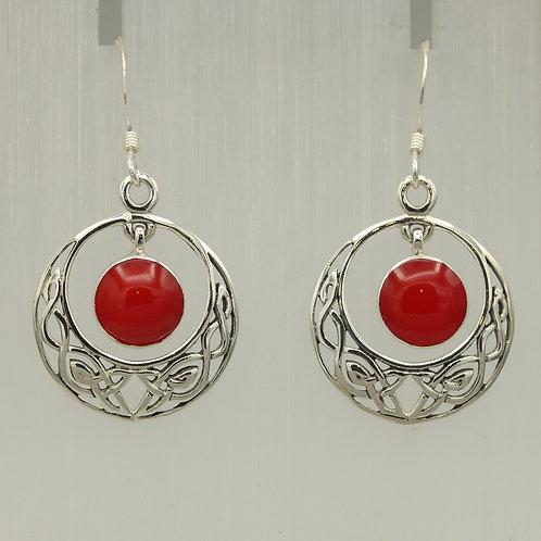 Carnelian Celtic Earrings