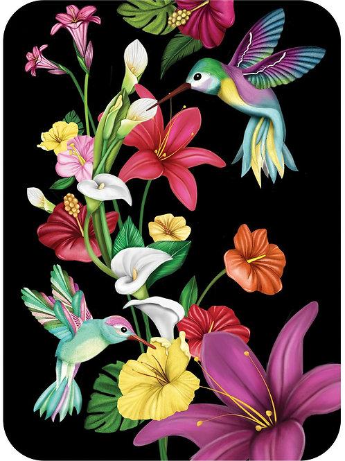"""Tropical Hummingbirds"" Card"