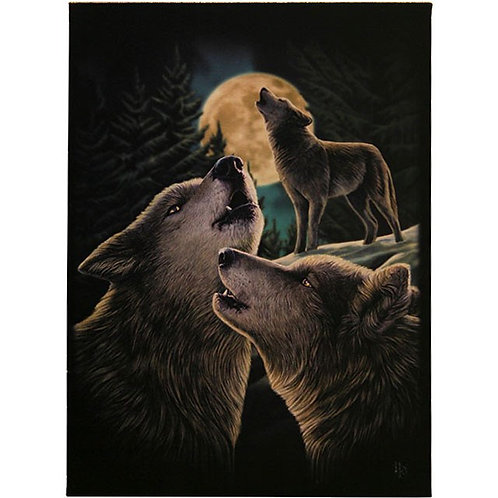 Wolf Song Canvas Plaque