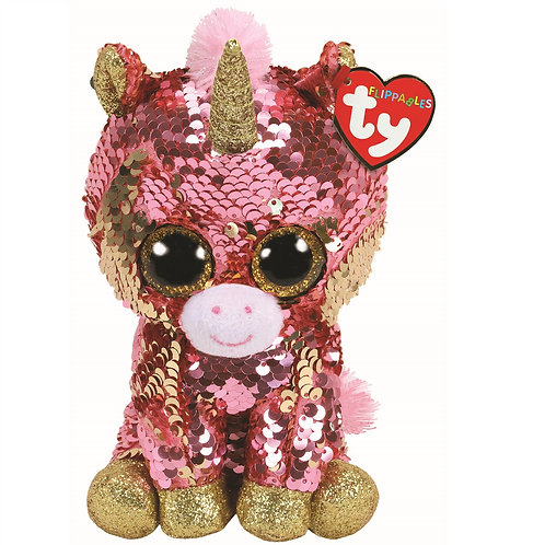 Sunset the Unicorn Flippable Ty Beanie Boo