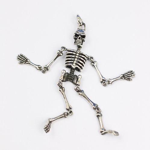 Sterling Silver Articulated Skeleton pendant