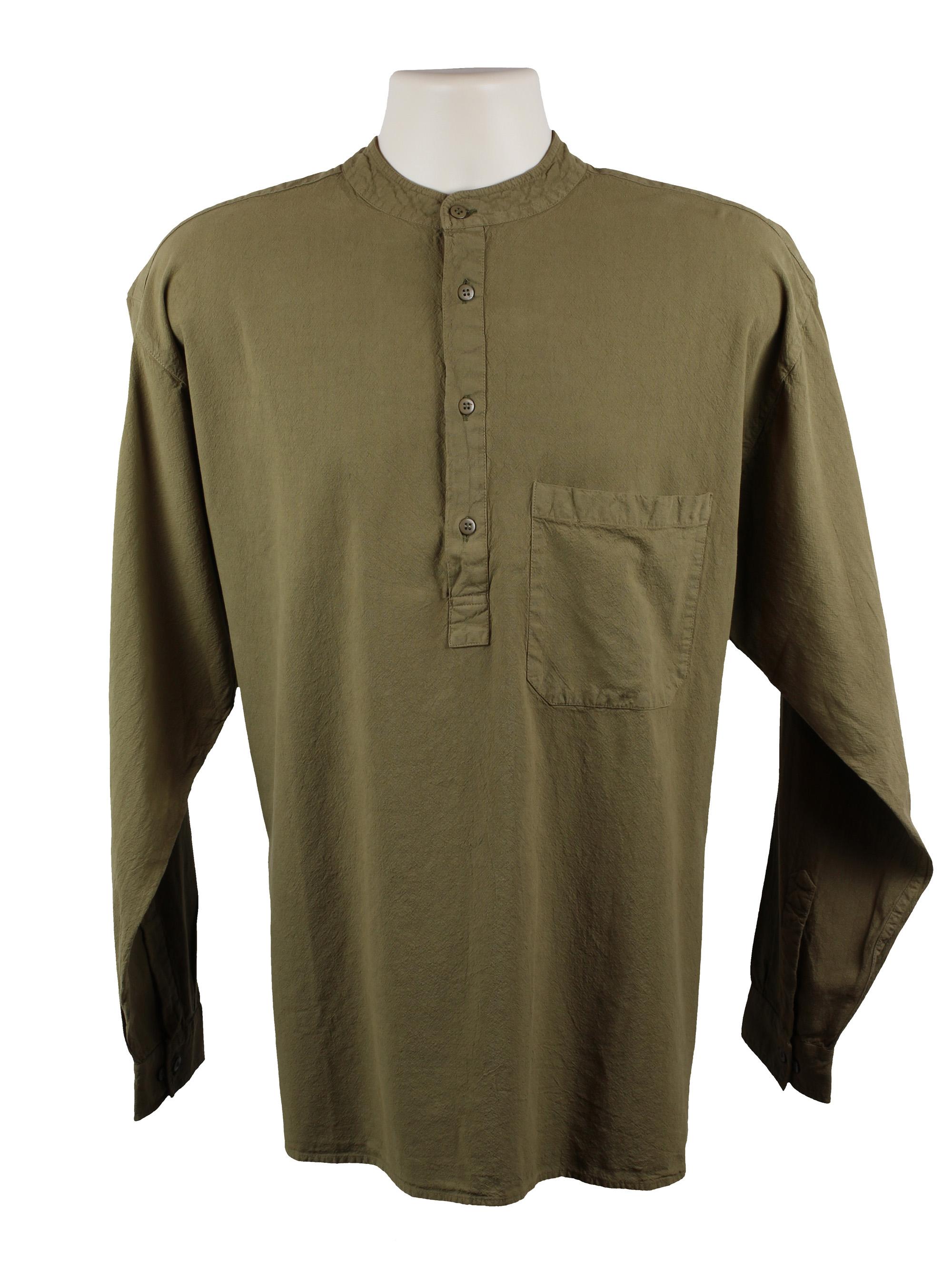 Olive Grandad Shirt