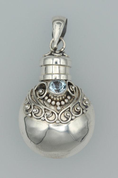Blue Topaz Perfume Bottle Pendant