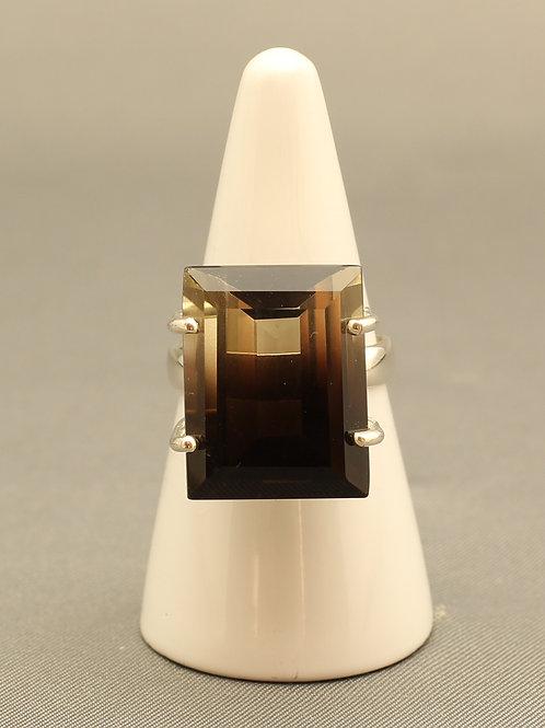 Bi-Colour Smokey Quartz Ring