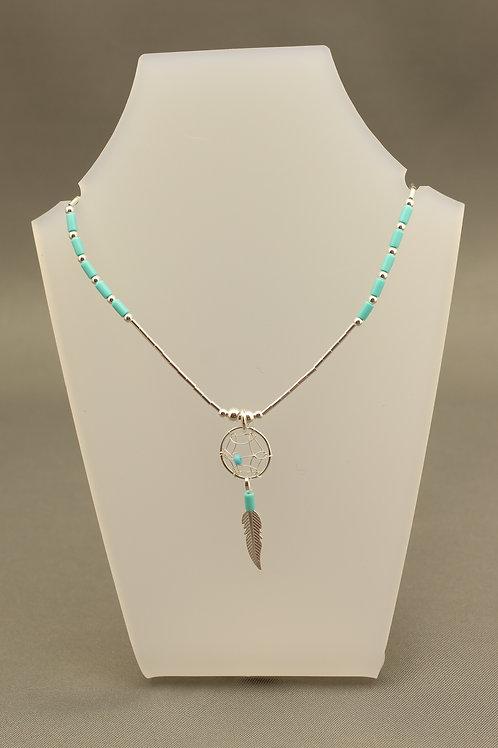 Dream Catcher Liquid Silver Necklace