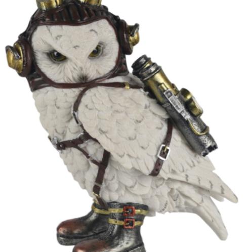Steampunk Rocket-Pack Owl