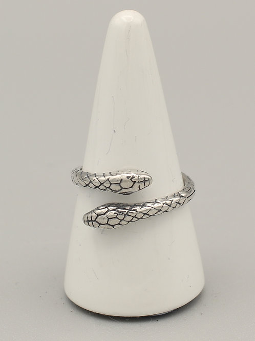 Wrap-around Two-Headed Snake Ring
