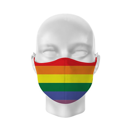 Rainbow Reusable Adult Face Covering