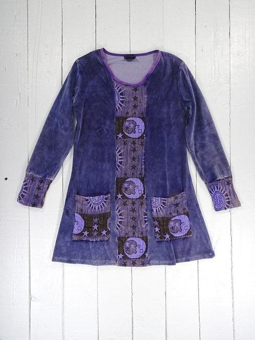 Long Sleeve Short Dress - 100% Cotton