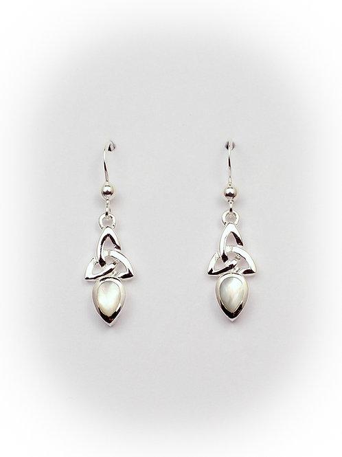 June - Pearl Celtic Earrings