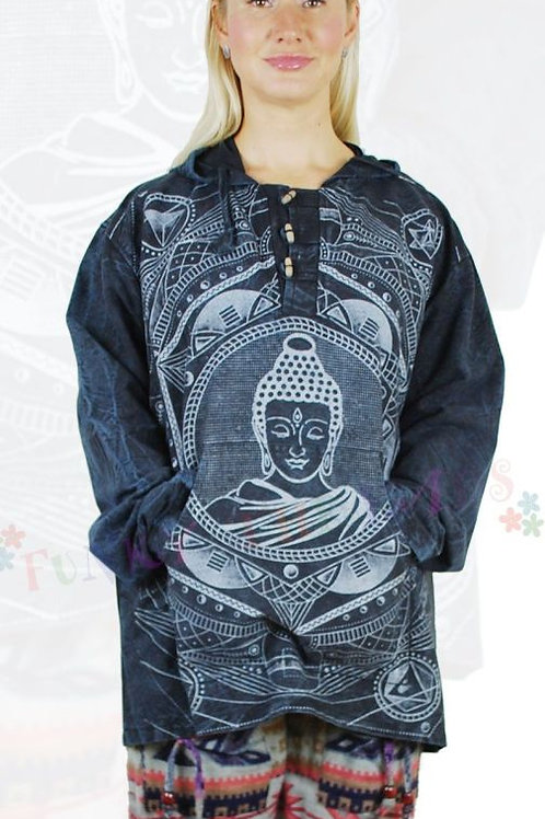 Buddha Hooded Shirt / Jacket