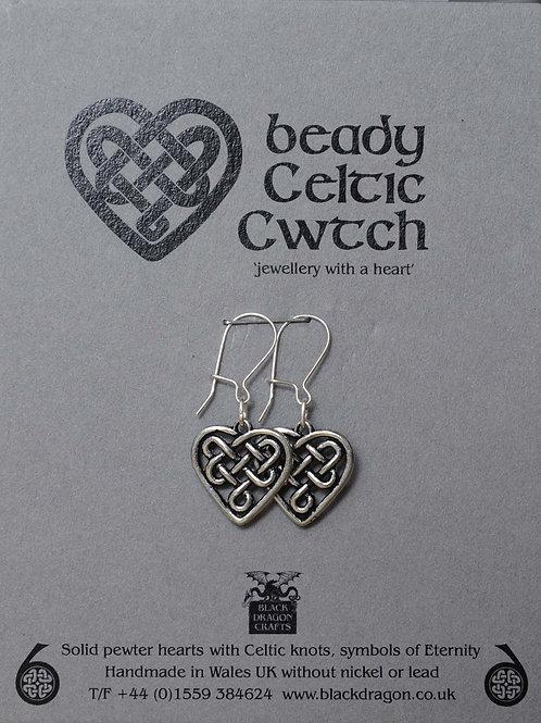 Beady Celtic Cwtch Earrings